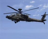 AH-64 Apache US Army photo Fine Art Print