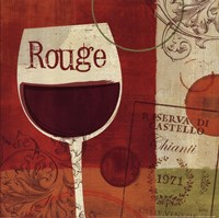 """Cheers! Rouge by Veronique Charron - 12"""" x 12"""", FulcrumGallery.com brand"""