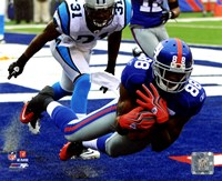 "Hakeem Nicks 2010 Action - 10"" x 8"", FulcrumGallery.com brand"