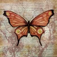 Vintage Butterflies I Framed Print