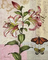 Oripet Lily Collage Framed Print