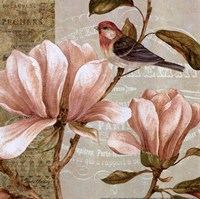 Magnolia Collage I - Mini Fine Art Print