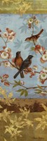 Robins & Blooms Panel Fine Art Print