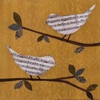 """Golden Songbirds II by Jeni Lee - 12"""" x 12"""" - $9.99"""