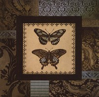 "Butterfly Garden I - petite by Kimberly Poloson - 6"" x 6"", FulcrumGallery.com brand"