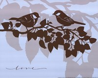 Chickadee Love  - mini Fine Art Print
