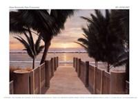 """Palm Promenade by Diane Romanello - 8"""" x 6"""""""