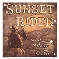 "Sunset Rider by Janet Kruskamp - 13"" x 13"" - $10.99"