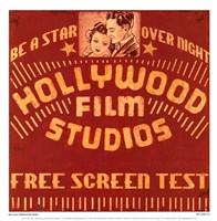 Hollywood Film Studios Fine Art Print