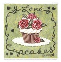 I Love Cupcakes Fine Art Print