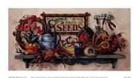 "Choice Flower Seeds by Barbara Mock - 9"" x 5"""