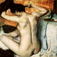 Woman Combing her Hair by Edgar Degas - various sizes