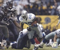 Emmitt Smith All-Time Rushing Yard Leader - #1 Action Fine Art Print