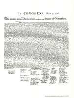 Declaration of Independence (Document) Fine Art Print
