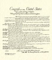 Bill of Rights (Document) Fine Art Print