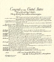 Bill of Rights (Document) Fine Art Print