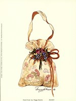 """Floral Purse by Peggy Abrams - 6"""" x 8"""""""