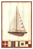 Americana Yacht I Framed Print