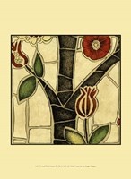 """Small Floral Mosaic III by Megan Meagher - 10"""" x 13"""""""