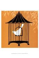 "Small Birdcage Silhouette I (U) by June Erica Vess - 13"" x 19"""