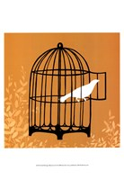 "Small Birdcage Silhouette II (U) by June Erica Vess - 13"" x 19"""