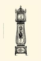 Sm Antique Grandfather Clock II Framed Print