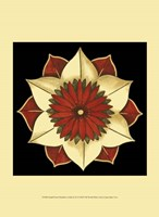 Small Floral Mandala on Red II (P) Framed Print