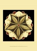 Small Floral Mandala on Red IV (P) Framed Print