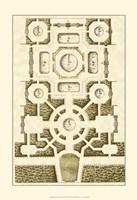 Small Garden Maze III (P) Fine Art Print
