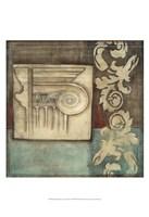 "Damask Tapestry with Capital I by Jennifer Goldberger - 13"" x 19"""
