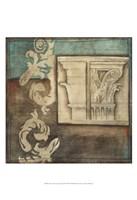 "Damask Tapestry with Capital II by Jennifer Goldberger - 13"" x 19"""
