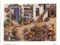 Courtyard Flower Shoppe Fine Art Print
