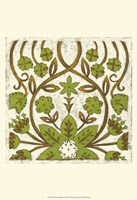 "Small Lotus Tapestry I by Chariklia Zarris - 13"" x 19"""