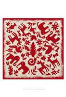 "Folk Story in Red by Chariklia Zarris - 13"" x 19"", FulcrumGallery.com brand"