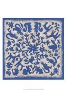 "Folk Story in Blue by Chariklia Zarris - 13"" x 19"", FulcrumGallery.com brand"