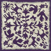 Folk Story in Purple Fine Art Print