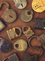 Antique Lock Collage by Vision Studio - various sizes