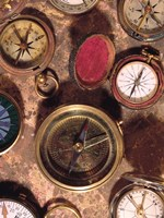 Antique Compass Collage by Vision Studio - various sizes