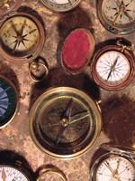 Antique Compass Collage Fine Art Print