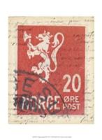 """Vintage Stamp III by Vision Studio - 10"""" x 13"""""""