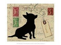Chihuahua Silhouette Fine Art Print