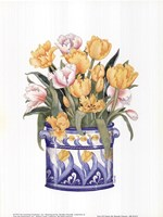 Tub Of Tulips Fine Art Print