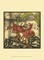 "Mini Fuchsia & Silhouette I by Jennifer Goldberger - 10"" x 13"""