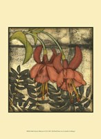 "Mini Fuchsia & Silhouette II by Jennifer Goldberger - 10"" x 13"""