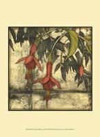 "Mini Fuchsia & Silhouette III by Jennifer Goldberger - 10"" x 13"""
