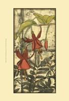 "Mini Fuchsia & Silhouette V by Jennifer Goldberger - 13"" x 19"""