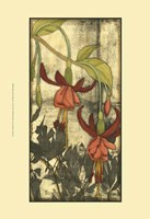 "Mini Fuchsia & Silhouette VI by Jennifer Goldberger - 13"" x 19"""