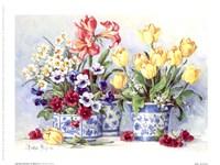 Spring Garden In Blue II Fine Art Print