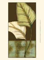 Small Palm Leaf Arabesque I (P) Framed Print