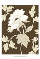 "Small Neutral Peony Elegance I (P) by Nancy Slocum - 13"" x 19"""